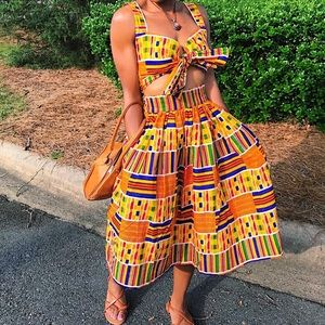 Dresses & Skirts - Two piece African print set